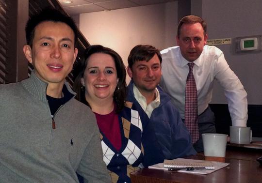 Guy and Methee of Zen Tara Tea along with Hillary and David of Dominion Tea
